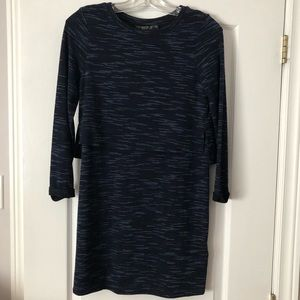 Topshop long sleeve blue dress